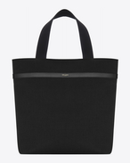 HUNTING Shopping Bag in Black Nylon and Leather