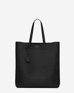 SAINT LAURENT Shopper-Totebag aus schwarzem Leder