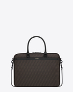 Classic TOILE MONOGRAM Geek BRIEFCASE IN BLACK Printed Canvas and Leather