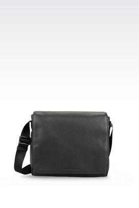 Armani Messenger bags Men messenger bag in grained calfskin