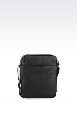 Armani Shoulder bags Men shoulder bag in grained calfskin