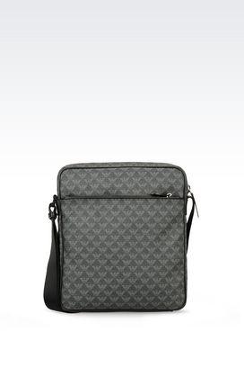 Armani Messenger bags Men shoulder bag in logo patterned pvc