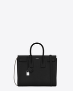 Classic Small Sac De Jour bag in Black Grained Leather