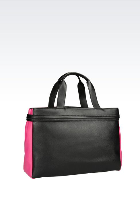 SHOPPING BAG IN FAUX LEATHER WITH TASSELS: Shoppers Women by Armani - 2