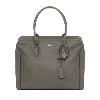 ALEXANDER MCQUEEN, Tote, Grain Calf Leather Padlock Zip Around
