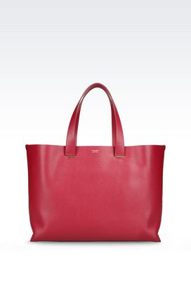 Armani Shoppers Women unlined shopper charnière dorée in saffiano calfskin