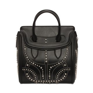 ALEXANDER MCQUEEN, Tote, Classic Soft Calf Leather Studded Heroine