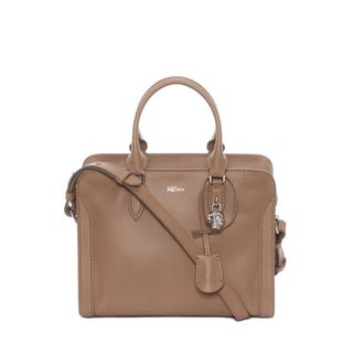 ALEXANDER MCQUEEN, Shoulder Bag, Grain Calf Leather Small Padlock Zip Around
