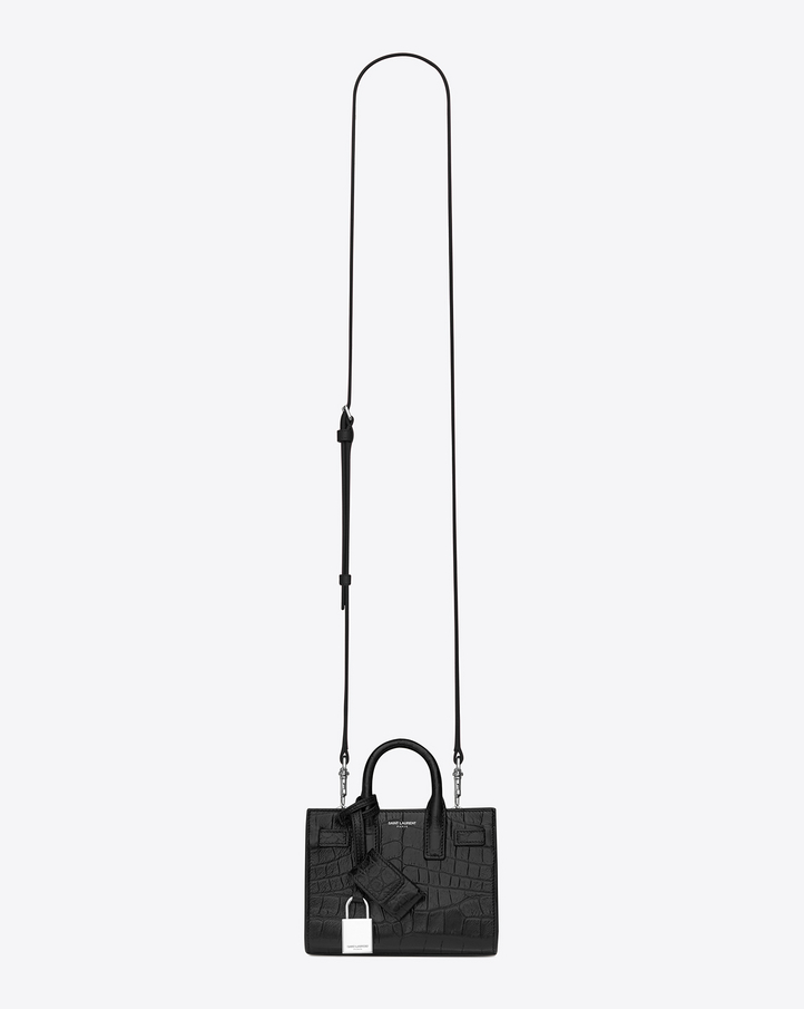 yves saint lauren wallet - Saint Laurent Classic Toy SAC DE JOUR BAG In Black Crocodile ...