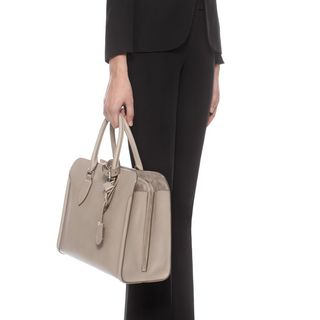 ALEXANDER MCQUEEN, Tote, Woven Grain Leather Heroine Open Tote