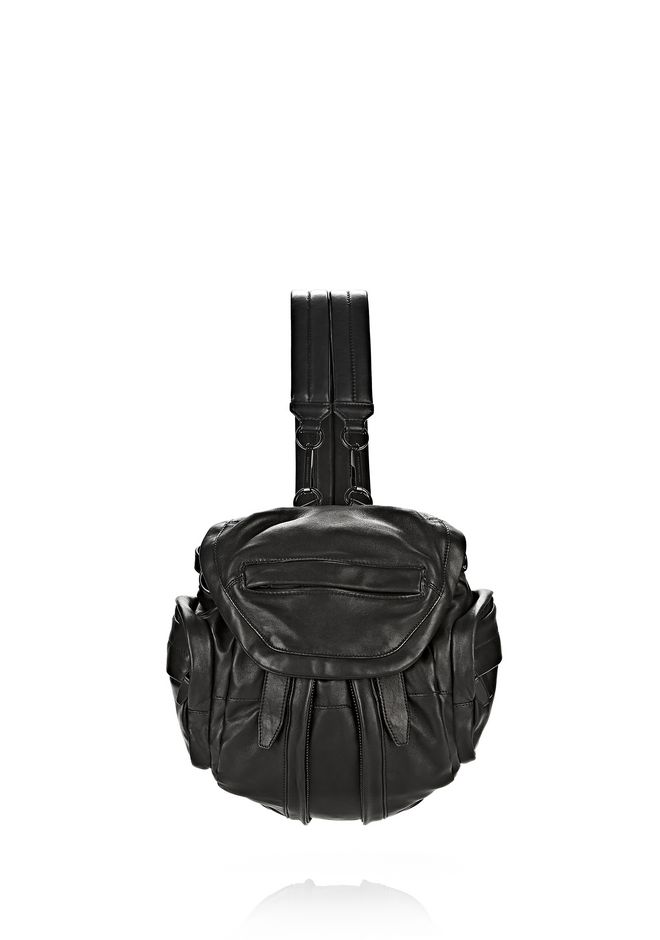 ALEXANDER WANG BACKPACKS MINI MARTI IN BLACK WITH MATTE BLACK