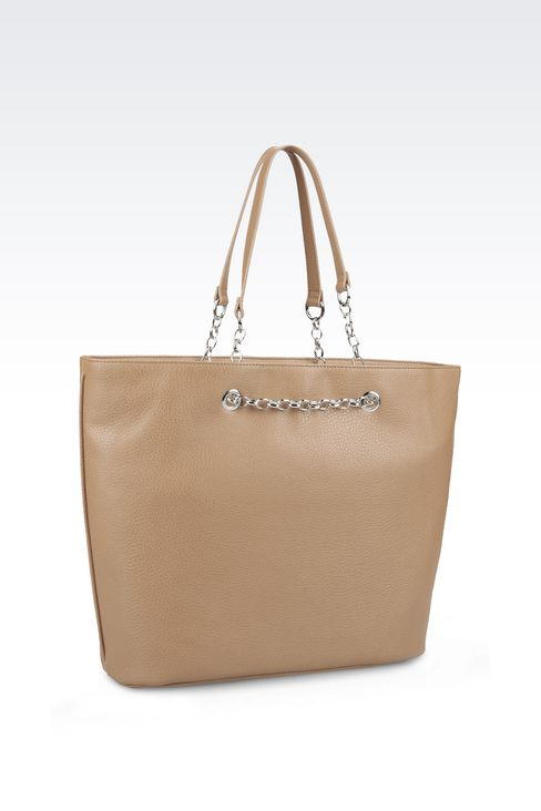 SHOPPING BAG IN FAUX LEATHER: Shoppers Women by Armani - 2
