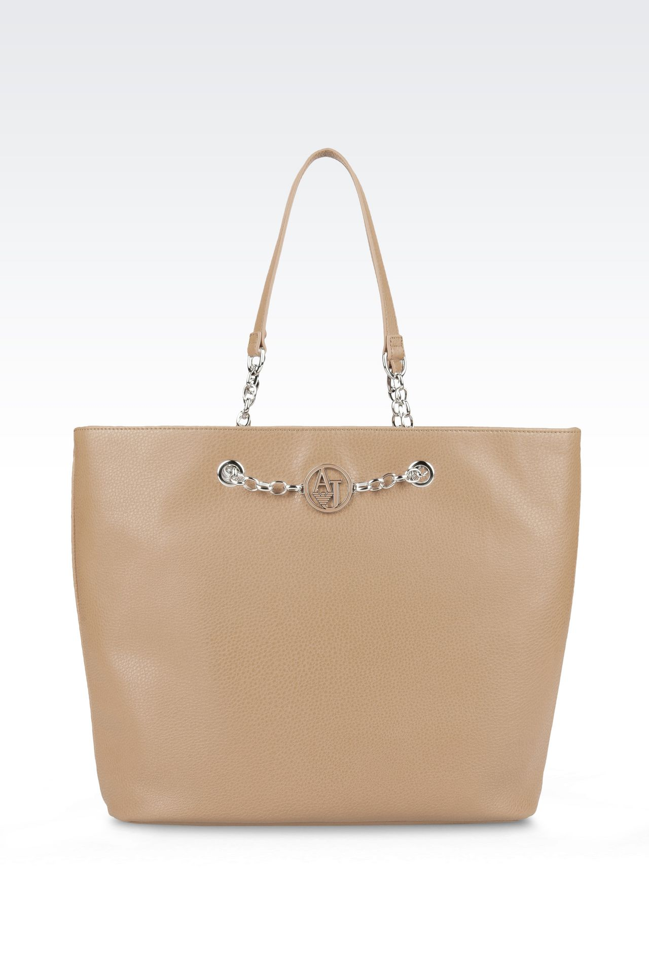 SHOPPING BAG IN FAUX LEATHER: Shoppers Women by Armani - 0