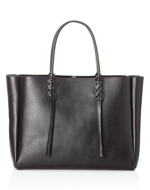 lanvin small black shopper bag  women