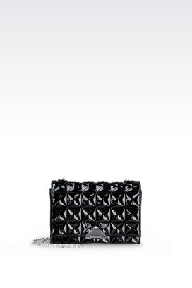 Armani Messenger bags Women small bag in patent with chain strap