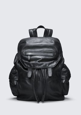 MARTI BACKPACK IN WASHED BLACK WITH MATTE BLACK