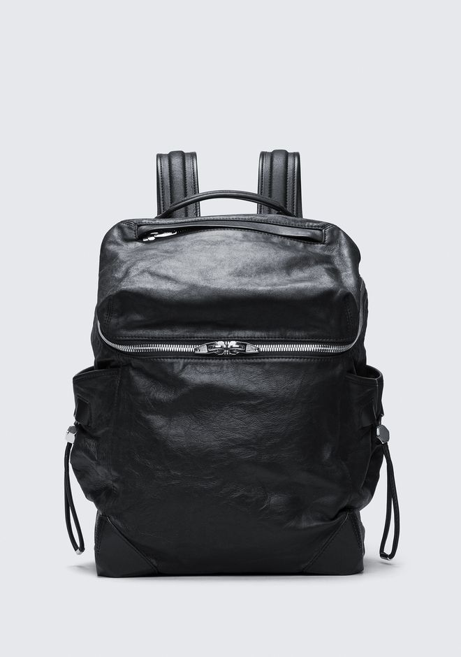 ALEXANDER WANG new-arrivals-bags-man SMALL WALLIE BACKPACK IN WAXY BLACK WITH RHODIUM
