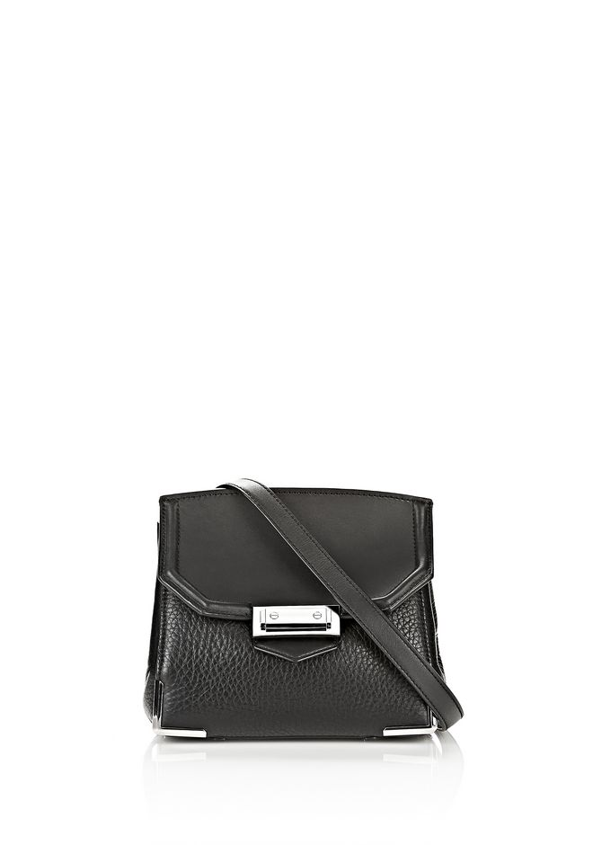 ALEXANDER WANG Shoulder bags Women MARION IN PEBBLED BLACK WITH RHODIUM
