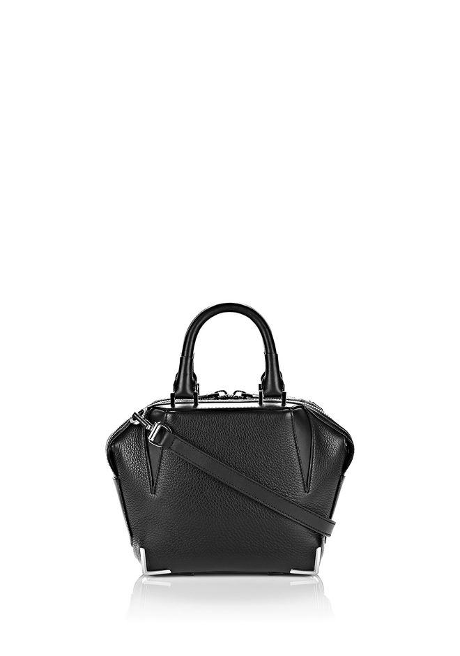 ALEXANDER WANG Shoulder bags Women MINI EMILE IN PEBBLED BLACK WITH RHODIUM