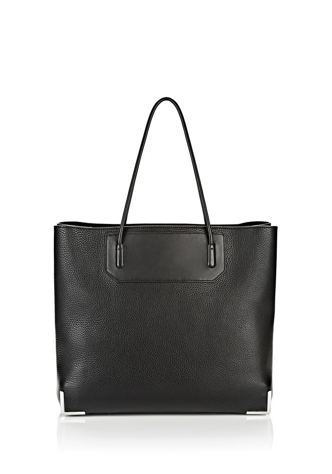 ALEXANDER WANG TOTES Women PRISMA LARGE TOTE IN PEBBLED BLACK WITH RHODIUM