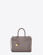 CLASSIC Baby SAC DE JOUR BAG IN Fog LEATHER