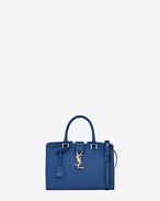 Baby MONOGRAM SAINT LAURENT CABAS Bag in Royal Blue Leather