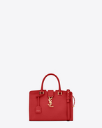 Baby MONOGRAM SAINT LAURENT CABAS Bag in Red Leather
