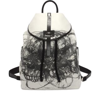 ALEXANDER MCQUEEN, Backpack, Multi Skull Canvas Backpack