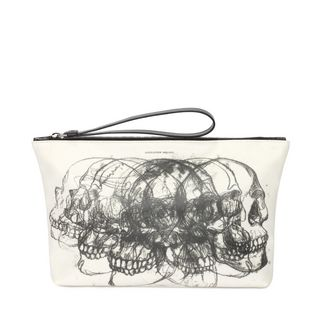 ALEXANDER MCQUEEN, Pouch, Printed Multi Skull Zipped Pouch