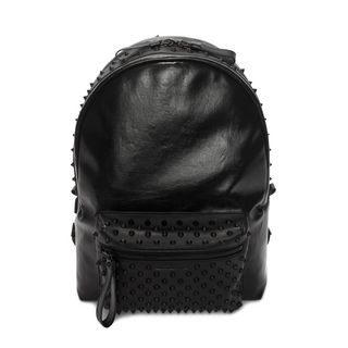 ALEXANDER MCQUEEN, Backpack, Black Studded Skull Backpack With Front Pocket