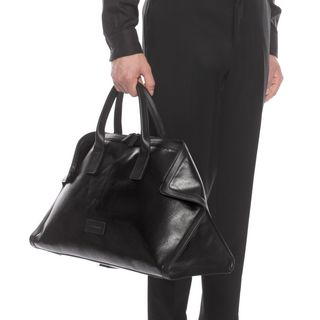 ALEXANDER MCQUEEN, Carry-all, Black Canvas De Manta Carry All