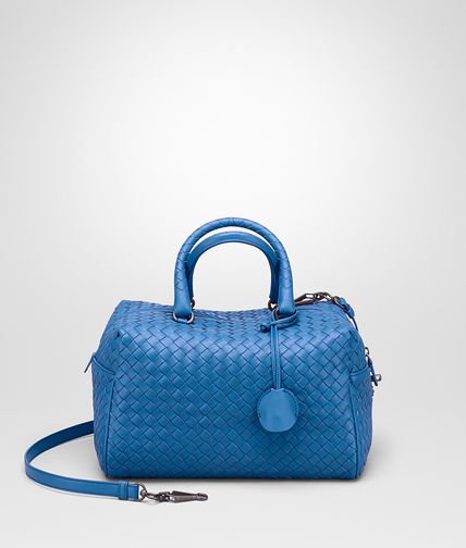 TOP HANDLE BAG IN BLUETTE INTRECCIATO NAPPA