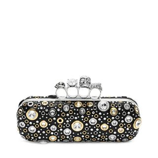 ALEXANDER MCQUEEN, Pouch, Nappa Leather and Studs Knuckle Box