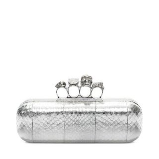 ALEXANDER MCQUEEN, Pouch, Soft Metallic Whips Knuckle Box Clutch