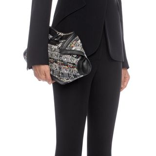 ALEXANDER MCQUEEN, Pouch, Tweed and Calf Leather De Manta Clutch