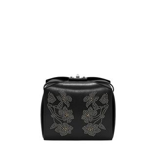 ALEXANDER MCQUEEN, Shoulder Bag, The Box Bag in Calf Leather with Flower Studs