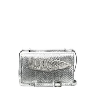 ALEXANDER MCQUEEN, Shoulder Bag, Soft Metallic Whips Wing Satchel