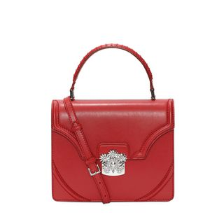 ALEXANDER MCQUEEN, Shoulder Bag, Calf Leather Flower Satchel