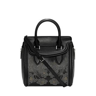 ALEXANDER MCQUEEN, Tote, Calf Leather Floral Studded Small Heroine