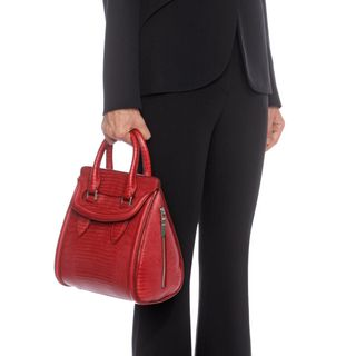 ALEXANDER MCQUEEN, Tote, Calf Leather Embossed Small Heroine
