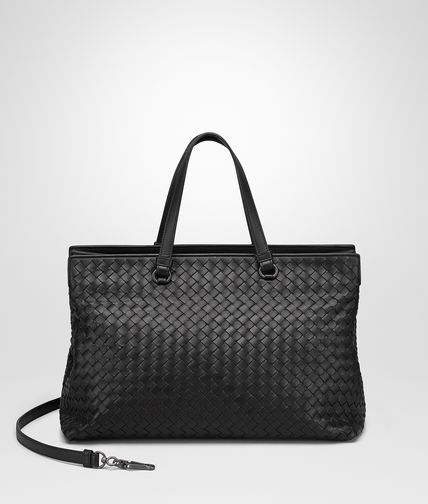 LARGE TOP HANDLE BAG IN NERO INTRECCIATO NAPPA