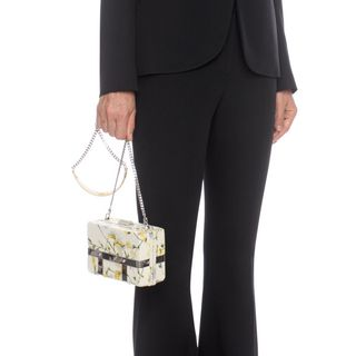 ALEXANDER MCQUEEN, Shoulder Bag, Sweet Pea Nappa Caged Bag