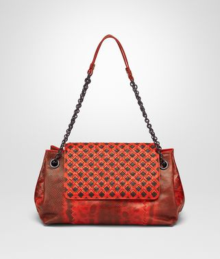 SMALL SHOULDER BAG IN VESUVIO KARUNG INTRECCIATO NAPPA CRAVATTERIA MOTIF
