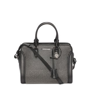 ALEXANDER MCQUEEN, Shoulder Bag, Calf Leather Small Padlock Zip Around