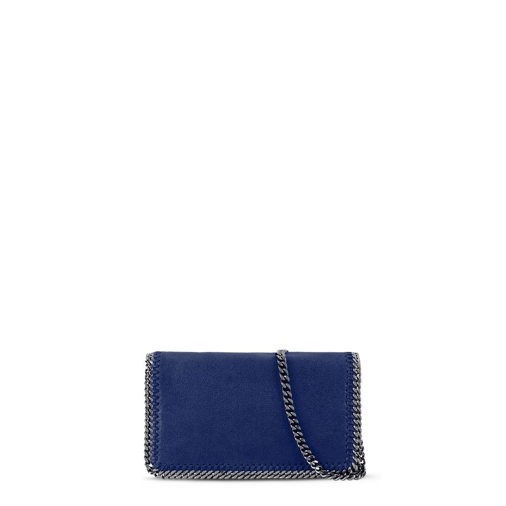 Falabella Cross Body Blu Elettrico in Shaggy Deer