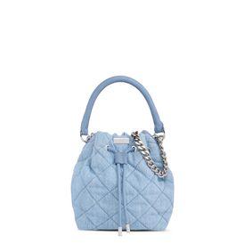 Falabella Quilted Denim Bucket Bag