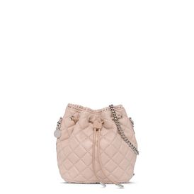 Falabella Studded Quilted Bucket bag