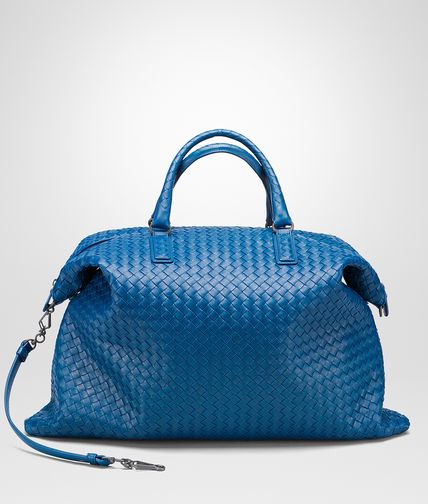 MAXI CONVERTIBLE BAG IN BLUETTE INTRECCIATO NAPPA
