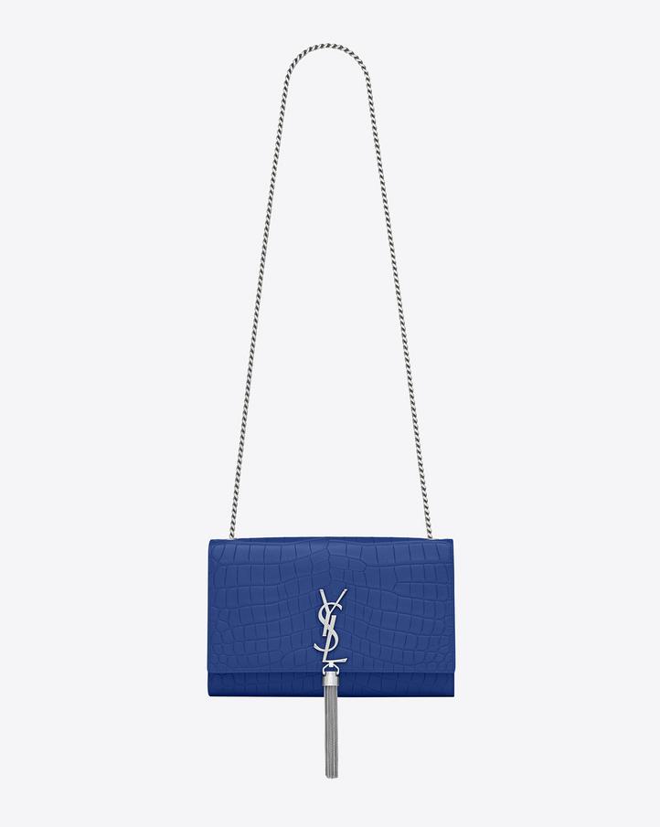ysl monogram shoulder bag - Saint Laurent Classic KATE MONOGRAM SAINT LAURENT Clutch In Royal ...