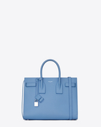 Classic Small SAC DE JOUR Bag in Light Blue Grained Leather